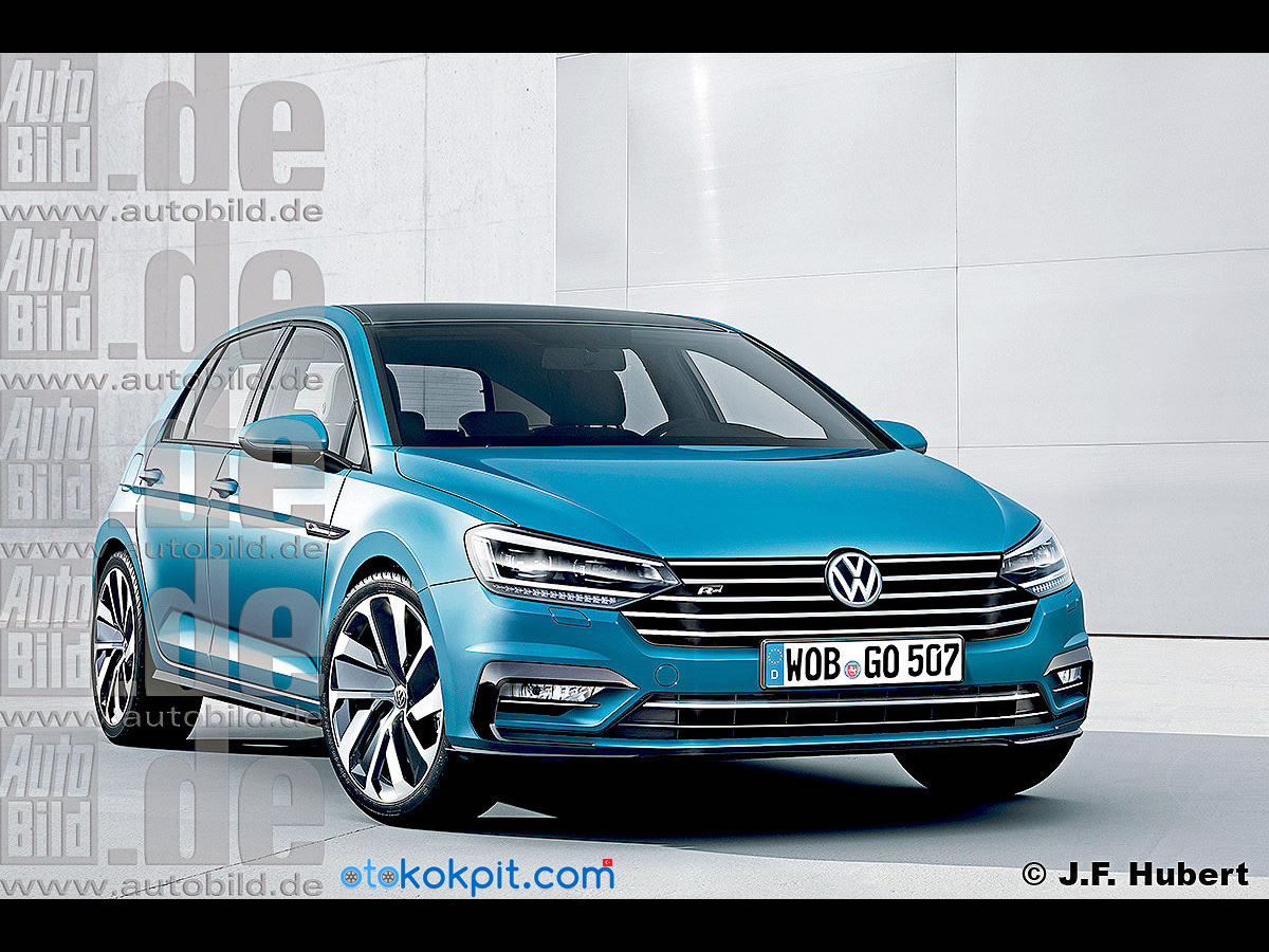 Sırada 2018 Yeni Kasa Volkswagen Golf 8 Var Oto Kokpit