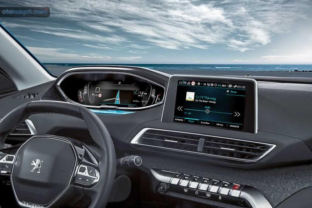 2017 Yeni Peugeot 5008 SUV Dijital Ekranı