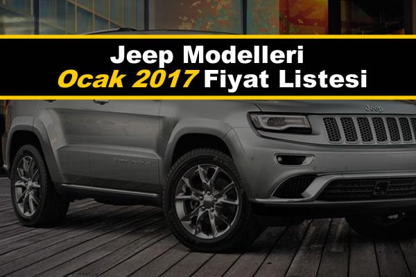 jeep modelleri ocak 2017 fiyat listesi oto kokpit. Black Bedroom Furniture Sets. Home Design Ideas