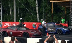 Audi TT-RS-Chevrolet Corvette ZR1 ve BMW M6 F13 Coupe Drag Video