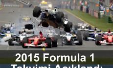 2015 Formula 1 Takvimi Açıklandı