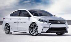 2017 Yeni Kasa Mitsubishi Lancer İçin Render Çalışma Geldi