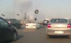 Lada Samara'nın LPG Tankı Patlama Anı!