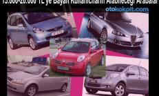 15.000-20.000 TL'ye Bayan Kullanıcıların Alabileceği Arabalar
