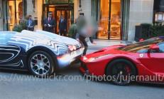 Bugatti Veyron ile Geri Gelirken Laferrariye Çarpmak