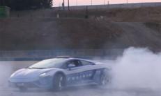 Lamborghini Gallardo Polis Aracı Lastik Yakıyor