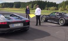 Lambo Aventador Pirelli Edition, Porsche 918 Spyder'a Karşı