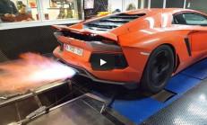 Lamborghini Aventador Dyno Bandında Alevler Saçıyor