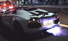 Tokyo Sokaklarında Liberty Walk Aventador Dehşet Saçıyor
