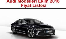 Audi Modelleri Ekim 2016 Fiyat Listesi