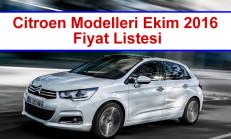 Citroen Modelleri Ekim 2016 Fiyat Listesi