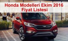 Honda Modelleri Ekim 2016 Fiyat Listesi