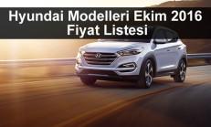 Hyundai Modelleri Ekim 2016 Fiyat Listesi
