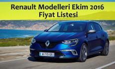 Renault Modelleri Ekim 2016 Fiyat Listesi