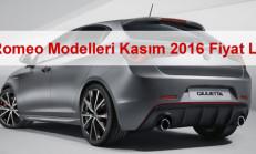 Alfa Romeo Modelleri Kasım 2016 Fiyat Listesi