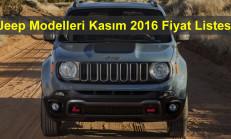 Jeep Modelleri Kasım 2016 Fiyat Listesi