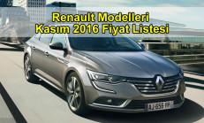 Renault Modelleri Kasım 2016 Fiyat Listesi