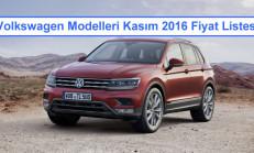 Volkswagen Modelleri Kasım 2016 Fiyat Listesi