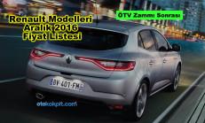 Renault Modelleri Aralık 2016 Fiyat Listesi