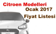 Citroen Modelleri Ocak 2017 Fiyat Listesi