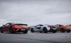 Devler Yarışıyor: Nissan GT-R, Honda NSX ve McLaren 540C