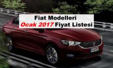 Fiat Modelleri Ocak 2017 Fiyat Listesi