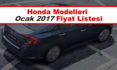 Honda Modelleri Ocak 2017 Fiyat Listesi