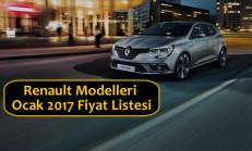 Renault Modelleri Ocak 2017 Fiyat Listesi