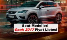 Seat Modelleri Ocak 2017 Fiyat Listesi