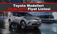 Toyota Modelleri Ocak 2017 Fiyat Listesi