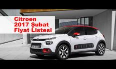 Citroen Modelleri Şubat 2017 Fiyat Listesi