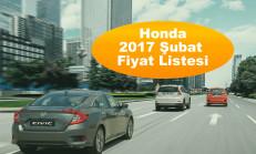 Honda Modelleri Şubat 2017 Fiyat Listesi