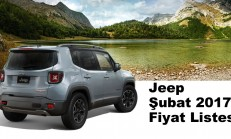 Jeep Modelleri Şubat 2017 Fiyat Listesi