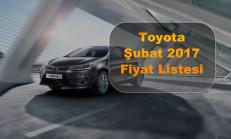Toyota Modelleri Şubat 2017 Fiyat Listesi