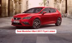 Seat Modelleri Mart 2017 Fiyat Listesi