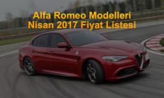 Alfa Romeo Modelleri Nisan 2017 Fiyat Listesi