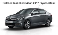 Citroen Modelleri Nisan 2017 Fiyat Listesi