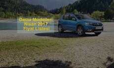 Dacia Modelleri Nisan 2017 Fiyat Listesi