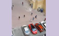 Veletler, Huracan'ı Kale Yapmış Top Oynuyorlar