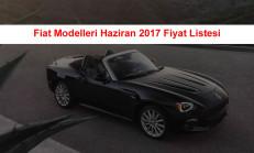Fiat Modelleri Haziran 2017 Fiyat Listesi