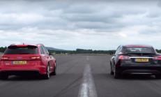 Hangisi Geçer? Audi RS6 Performance – Tesla Model S P90D