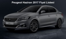 Peugeot Modelleri Haziran 2017 Fiyat Listesi