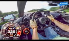 400 Beygirlik Audi RS3 Sedan ile 0-284 km/s Hızlanması