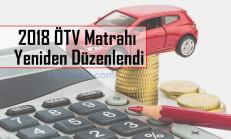 Otomobiller İçin 2018 ÖTV Matrahı Yeniden Düzenlendi