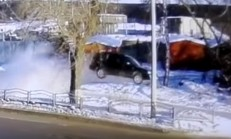 Dikkatsiz Vinç Sürücüsünün Dönüşü, Subaru'yu Uçurdu