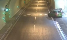 Fabia Sürücüsünün Akıllara Durgunluk Veren Tüneldeki U Dönüşü!