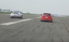 500 Beygirlik Audi RS3, Porsche 911 Turbo S'e Karşı