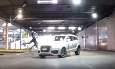 Audi Q7 Sürücüsü, Bisikletliye Çarptı