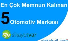 Şikayetvar'da En Çok Memnun Kalınan 5 Otomotiv Markası