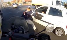 Gasp Girişimine Motosiklet Sürücüsünün Müdahalesi İşe Yaradı